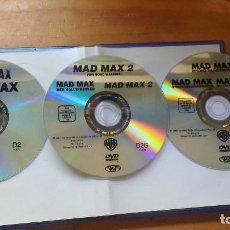 Cine: PACK DVD - MAD MAX (LA TRILOGÍA - 1979, 1981, 1985) - COLECCIÓN 3 DISCOS ORIGINALES Y DESCATALOGADOS. Lote 171168005