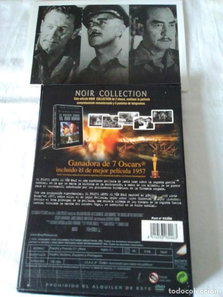 Cine: 25-DVD EL PUENTE SOBRE EL RIO KWAI, NOIR COLLECTION, belico - Foto 2 - 171169418
