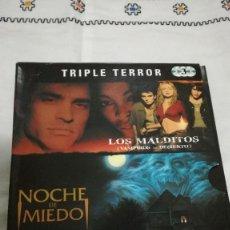 Cine: 18-DVD TRIPLE TERROR, 3 PELICULAS. Lote 171169518