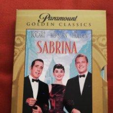 Cine: SABRINA (HUMPHREY BOGART / AUDREY HEPBURN / WILLIAM HOLDEN) PARAMOUNT GOLDEN CLASSICS, DVD. Lote 171176599