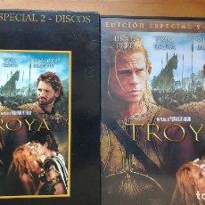 Cine: TROYA (TROY, 2004) - DVD - EDICIÓN ESPECIAL - 2 DISCOS - INCLUYE ESTUCHE EXTRA DE CARTÓN DURO. Lote 171201138