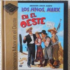 Cine: LOS HERMANOS MARX EN EL OESTE. LIBRO-DVD DE LA MEMORABLE PELICULA DE GROUCHO, CHICO Y HARPO MARX. BL. Lote 171222619