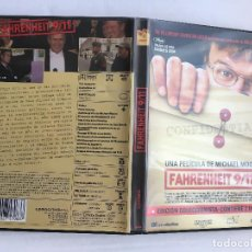 Cine: FARENHEIT 9 11 MICHALE MOORE CONFIDENTIAL DOCUMENTAL 2 DISCOS COLECCIONISTA DVD VIDEO KREATEN. Lote 171341213
