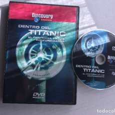 Cine: DENTRO DEL TITANIC EL FANTASMA DE LAS PROFUNDIDADES DISCOVERY CHANNEL DVD VIDEO KREATEN. Lote 171388600