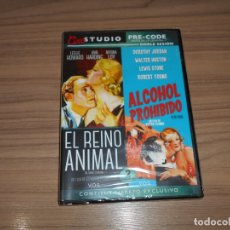 Cine: PACK EL REINO ANIMAL + ALCOHOL PROHIBIDO EDICION ESPECIAL DVD + LIBRO MYRNA LOY NUEVA PRECINTADA. Lote 171480379