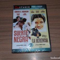 Cine: PACK SUERTE NEGRA + LA HERENCIA EDICION ESPECIAL DVD + LIBRO EDWARD G. ROBINSON NUEVA PRECINTADA. Lote 171480470
