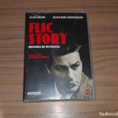 Cine: FLIC STORY EDICION ESPECIAL DVD + LIBRO 16 PAG. ALAIN DELON NUEVA PRECINTADA. Lote 171480757