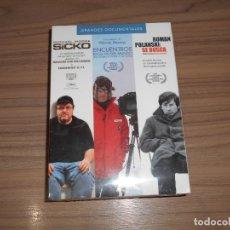 Cine: PACK GRANDES DOCUMENTALES 3 DVD 322 MIN. ROMAN POLANSKI - MICHAEL MOORE SICKO - WERNER PRECINTADA. Lote 171487587