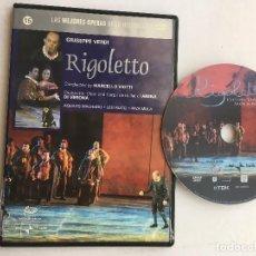 Cine: GIUSEPPE VERDI RIGOLETTO MARCELLO VIOTTI SLIM CASE DVD KREATEN. Lote 171503878
