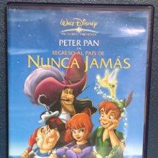 Cine: DVD - PETER PAN REGRESO AL PAIS DE NUNCA JAMAS - DISNEY. Lote 171508225