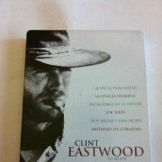 Cine: CLINT EASTWOOD - CAJA METÁLICA CON 6 DVD. Lote 171509849