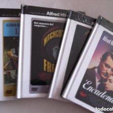 Cine: ALFRED HITCHCOCK- LOTE 5 DVD- CON LIBRETO- PRECINTADOS. Lote 171510062