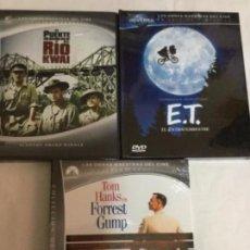Cine: DVD - LOTE DE 3 - CON LIBRETO - (KWAI- E.T. - FORREST GUMP). Lote 171511059