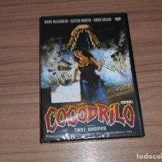 Cine: COCODRILO DVD TOBE HOOPER TERROR NUEVA PRECINTADA. Lote 213645683
