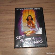 Cine: SIETE MUJERES ATRAPADAS DVD TERROR NUEVA PRECINTADA. Lote 205585995