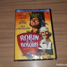 Cinéma: ROBIN DE LOS BOSQUES EDICION ESPECIAL DVD + CD BANDA SONORA ORIGINAL ERROL FLYNN NUEVA PRECINTADA. Lote 197027781