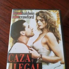 Cine: DVD --- CAZA LEGAL --- CON WILLIAM BALDWIN Y CINDY CRAWFORD. Lote 171689040