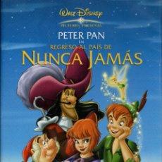 Cine: PETER PAN EN REGRESO AL PAÍS DE NUNCA JAMÁS. DVD-6190. Lote 171733790