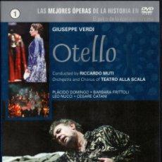 Cine: OTELLO. GIUSEPPE VERDI. LAS MEJORES ÓPERAS DE LA HISTORIA EN DVD. DVD-6208. Lote 172109109