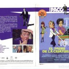Cine: EL PADRE DE LA CRIATURA, CON PACO MARTÍNEZ SORIA. DVD.. Lote 172252127