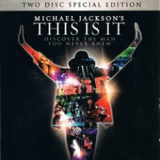 Cine: MICHAEL JACKSON'S THIS IS IT. TWO DISC SPECIAL EDITION. DVD. SONY. Lote 172405954