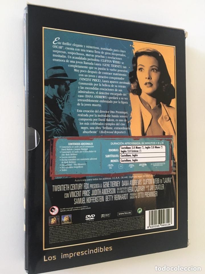 Cine: LAURA. EDICIÓN COLECCIONISTA 2 DVD (GENE TIERNEY, DANA ANDREWS, CLIFTON WEBB) - Foto 2 - 172595677