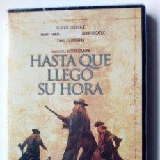 Cine: DVD - HASTA QUE LLEGO SU HORA (SERGIO LEONE) - CLAUDIA CARDINALE, HENRY FONDA, JASON ROBARDS -. Lote 172680363