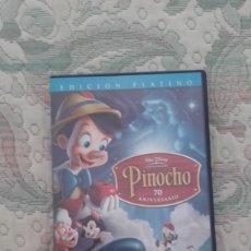 Cine: DVD PINOCHO DE WALT DISNEY EDICION PLATINO 70 ANIVERSARIO 2 DISCOS. Lote 172929163