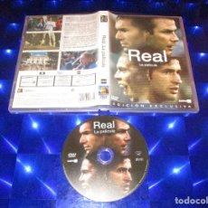 Cine: REAL ( LA PELICULA / EDICION EXCLUSIVA ) - DVD - 43135909 - SOGEPAQ - REAL MADRID. Lote 173011019
