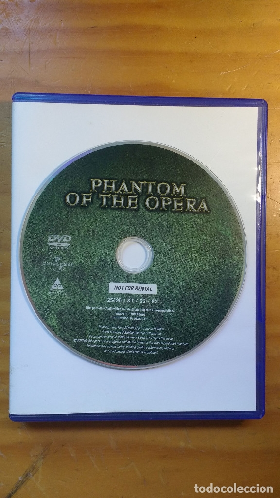 EL FANTASMA DE LA ÓPERA (PHANTOM (FANTASMA) OF THE OPERA) (1943) - DVD ORIGINAL DESCATALOGADO (Cine - Películas - DVD)