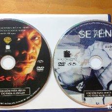 Cine: SEVEN (SE7EN) (1995) - DVD ORIGINAL Y DESCATALOGADO - 2 DISCOS REPLETOS DE EXTRAS SIN USO. Lote 173202610