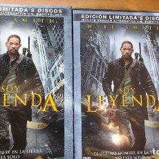 Cine: SOY LEYENDA (I AM LEGEND - 2007) - DVD EDICIÓN LIMITADA 2 DISCOS - ESTUCHE + CUBIERTA - SIN USO. Lote 173370348