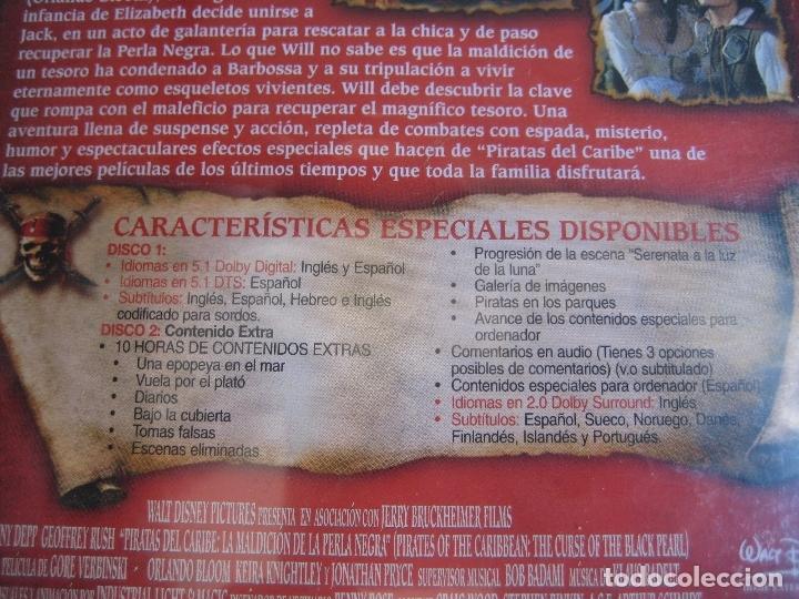 Cine: PIRATAS DEL CARIBE - MALDICION PERLA NEGRA EDICION COLECCIONISTA 2 DISCOS - DVD PRECINTADO - J DEPP - Foto 3 - 173445530