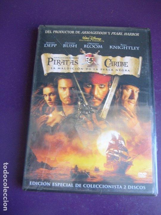 PIRATAS DEL CARIBE - MALDICION PERLA NEGRA EDICION COLECCIONISTA 2 DISCOS - DVD PRECINTADO - J DEPP (Cine - Películas - DVD)