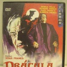 Cinema: 1 PELÍCULA FREAK DE TERROR AÑO 1972 DRÁCULA CONTRA FRANKESTEIN JESUS FRANCO JESS FRANCO. Lote 173490159