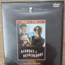 Cine: DVD - ACORDES & DESACUERDOS - WOODY ALLEN - PEDIDO MINIMO 4 PELICULAS 0 10€. Lote 173581459