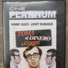 Cine: DVD - TOMA EL DINERO Y CORRE - WOODY ALLEN - PEDIDO MINIMO 4 PELICULAS 0 10€. Lote 173582068