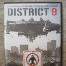 Cine: DVD - DISTRIC 9 - PETER JACKSON - PEDIDO MINIMO 4 PELICULAS 0 10€. Lote 173589880