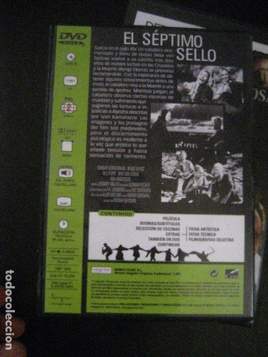 Cine: DVD EL SÉPTIMO SELLO (1957) de Ingmar Bergman. Con Max Von Sydow. - Foto 2 - 173823044