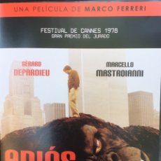 Cine: ADIÓS AL MACHO DVD GERARD DEPARDIEU. Lote 174313348