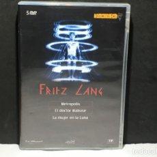 Cine: PACK FRITZ LANG (INCLUYE 3 PELÍCULAS) [5 DVD´S] - PAL 2. Lote 174343072