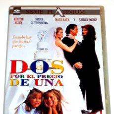 Cine: DOS AL PRECIO DE UNA - ANDY TENNANT KIRSTIE ALLEY STEVE GUTTENBERG MARY-KATE OLSEN ASHLEY OLSEN DVD. Lote 174343508