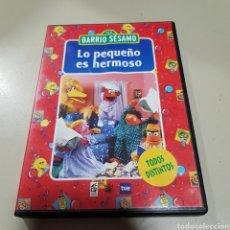 Cine: (S189) BARRIO SESAMO LO PEQUEÑO ES HERMOSO - DVD SEGUNDAMANO. Lote 174966343