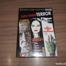 Cine: PACK TERROR 3 DVD LA CAMARA DE LOS HORRORES - LA MARCA DEL VAMPIRO - EL CEREBRO DE FRANKENSTEIN. Lote 175590420