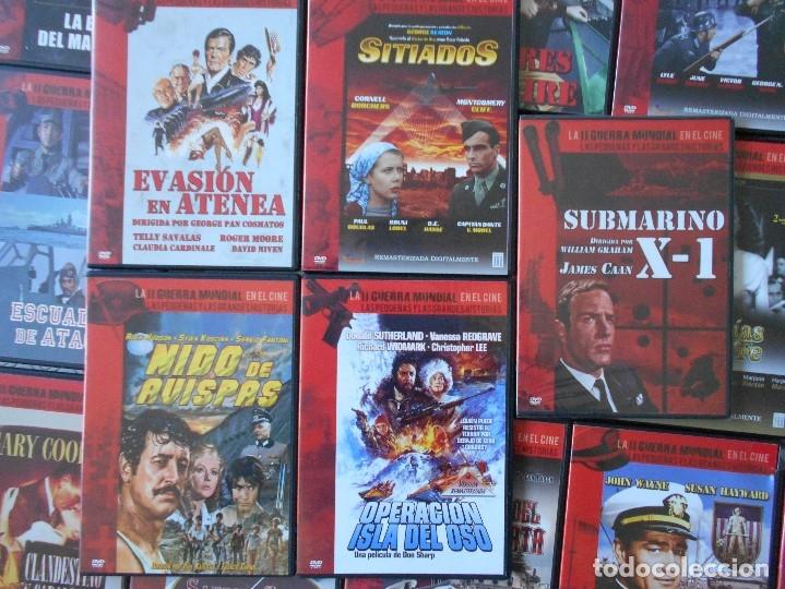 Cine: LA II GUERRA MUNDIAL EN EL CINE. LAS PEQUEÑAS Y LAS GRANDES HISTORIAS. LOTAZO DE 41 DVD CON LAS MEJO - Foto 2 - 175740619