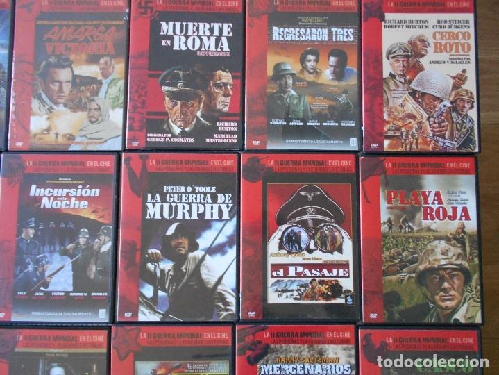 Cine: LA II GUERRA MUNDIAL EN EL CINE. LAS PEQUEÑAS Y LAS GRANDES HISTORIAS. LOTAZO DE 41 DVD CON LAS MEJO - Foto 4 - 175740619