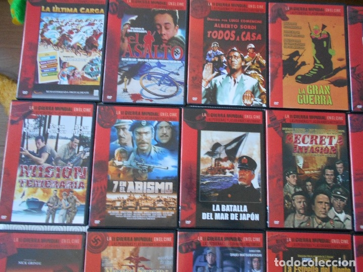 Cine: LA II GUERRA MUNDIAL EN EL CINE. LAS PEQUEÑAS Y LAS GRANDES HISTORIAS. LOTAZO DE 41 DVD CON LAS MEJO - Foto 6 - 175740619