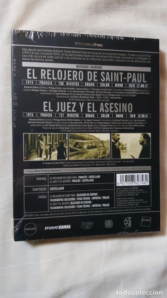 Cine: DIGIPACK DVD BERTRAND TAVERNIER NUEVA EL RELOJERO DE SAINT-PAUL EL JUEZ Y EL ASESINO PHILIPPE NOIRET - Foto 2 - 175771422
