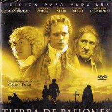 Cine: DVD TIERRA DE PASIONES GÉRARD DEPARDIEU (PRECINTADO). Lote 175794883