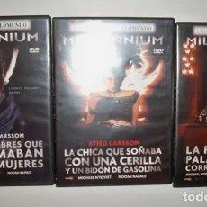 Cine: DVD TRILOGIA MILLENIUM. Lote 151160110